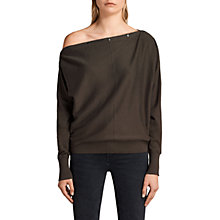 Buy AllSaints Elle Jumper, Khaki Green Online at johnlewis.com