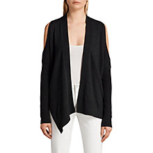 Buy AllSaints Reya Cardigan, Cinder Black Marl Online at johnlewis.com