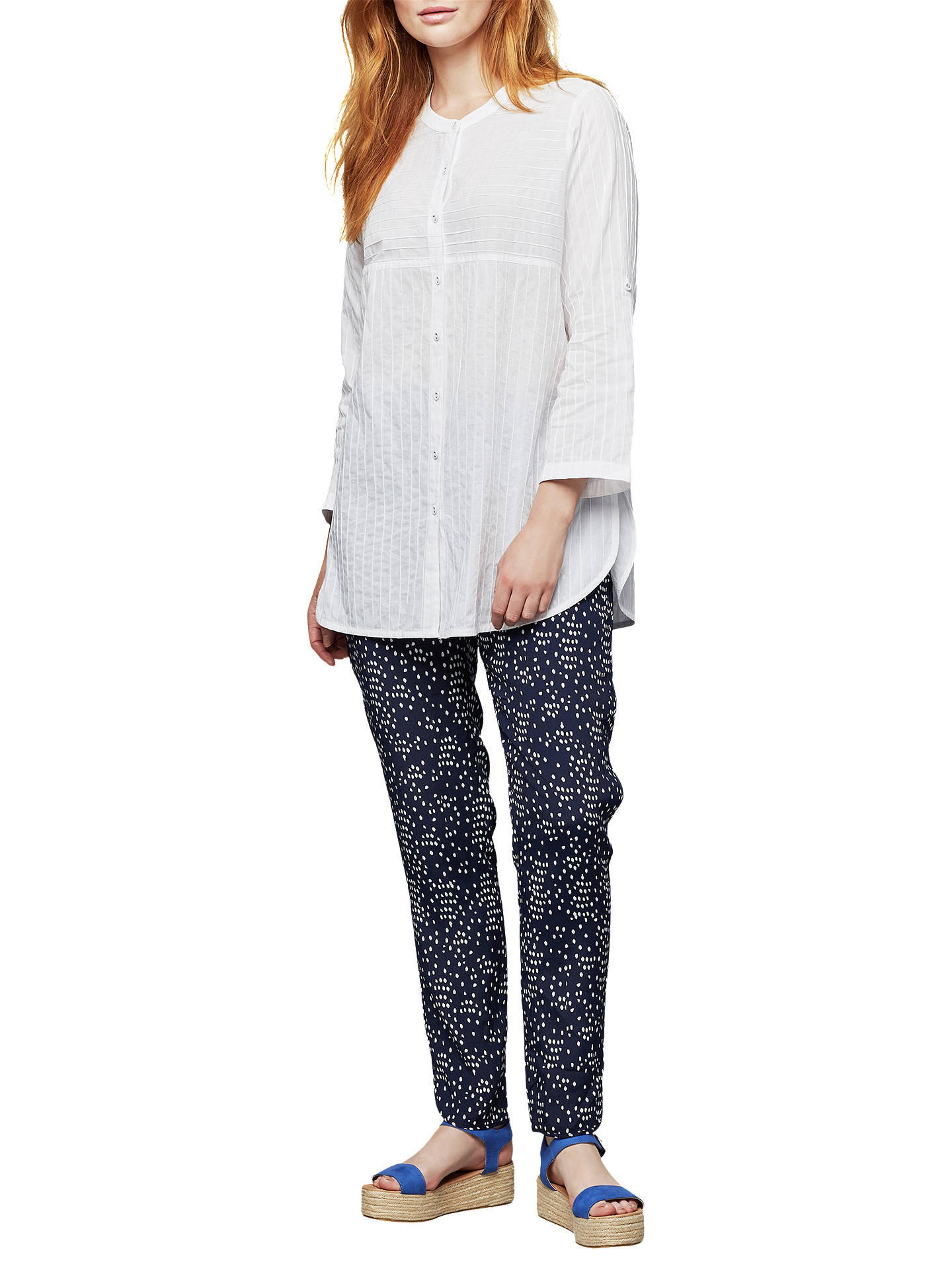 BuyEast Spot Print Trousers, Indigo, S Online at johnlewis.com