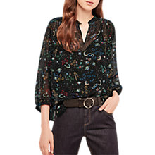 Buy Gerard Darel Space Blouse, Black Online at johnlewis.com