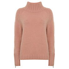 Buy Mint Velvet Funnel Neck Boxy Knit Jumper, Apricot Online at johnlewis.com