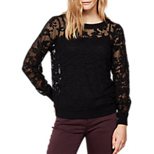 Buy Mint Velvet Embroidered Sweatshirt, Black Online at johnlewis.com
