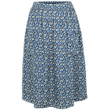 Buy Fat Face Effie Jacquard Floral Skirt, Navy Online at johnlewis.com