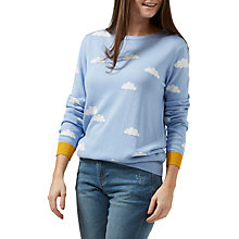 Buy Sugarhill Boutique Rita Cloud Intarsia Jumper, Sky Blue/Multi Online at johnlewis.com