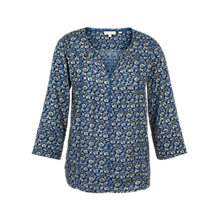 Buy Fat Face Phoebe Jacquard Floral Pullover, Indigo Online at johnlewis.com