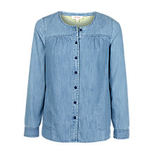 Buy Fat Face Tessa Blouse, Chambray Online at johnlewis.com