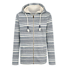 Buy Fat Face Eskdale Pattern Zip Through Hoodie, Navy Online at johnlewis.com