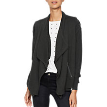 Buy Mint Velvet Layered Military Cardigan, Dark Green Online at johnlewis.com