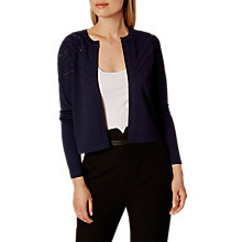 Buy Karen Millen Travelling Cardigan, Navy Online at johnlewis.com