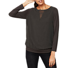 Buy Mint Velvet V-Insert Blouse, Dark Green Online at johnlewis.com