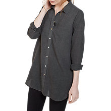 Buy Fat Face Ottilie Longline Shirt, Grey Marl Online at johnlewis.com