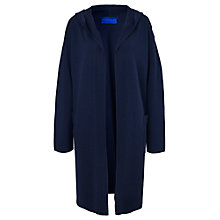 Buy Winser London Milano Cotton Hooded Coat, Midnight Navy Online at johnlewis.com