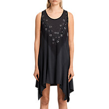 Buy AllSaints Tany Loire Dress, Dark Night Blue Online at johnlewis.com