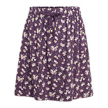 Buy Fat Face Dana Teatime Floral Skirt, Aubergine Online at johnlewis.com