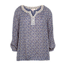Buy Fat Face Sadie Retro Tile Blouse, Multi Online at johnlewis.com