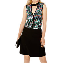 Buy Karen Millen Pyramid Geo Blouse, Multi Online at johnlewis.com