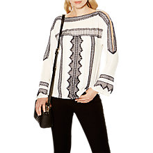 Buy Karen Millen Embroidered Cold Shoulder Blouse Online at johnlewis.com