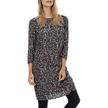 Buy Brora Painterly Floral Shift Dress, Auburn/Coal Online at johnlewis.com