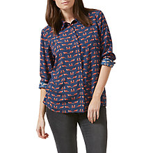 Buy Sugarhill Boutique Erin Foxy Shirt, Navy Online at johnlewis.com