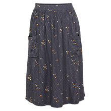 Buy Fat Face Effie Daisy Dot Skirt, Grey Online at johnlewis.com