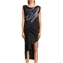 Buy AllSaints Riviera Flight Dress, Dark Night Blue Online at johnlewis.com