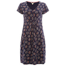 Buy White Stuff Take A Flight Short Sleeve Jersey Dress, Navy Spot Online at johnlewis.com