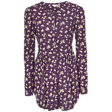 Buy Fat Face Evie Teatime Floral Longline Dress, Aubergine Online at johnlewis.com
