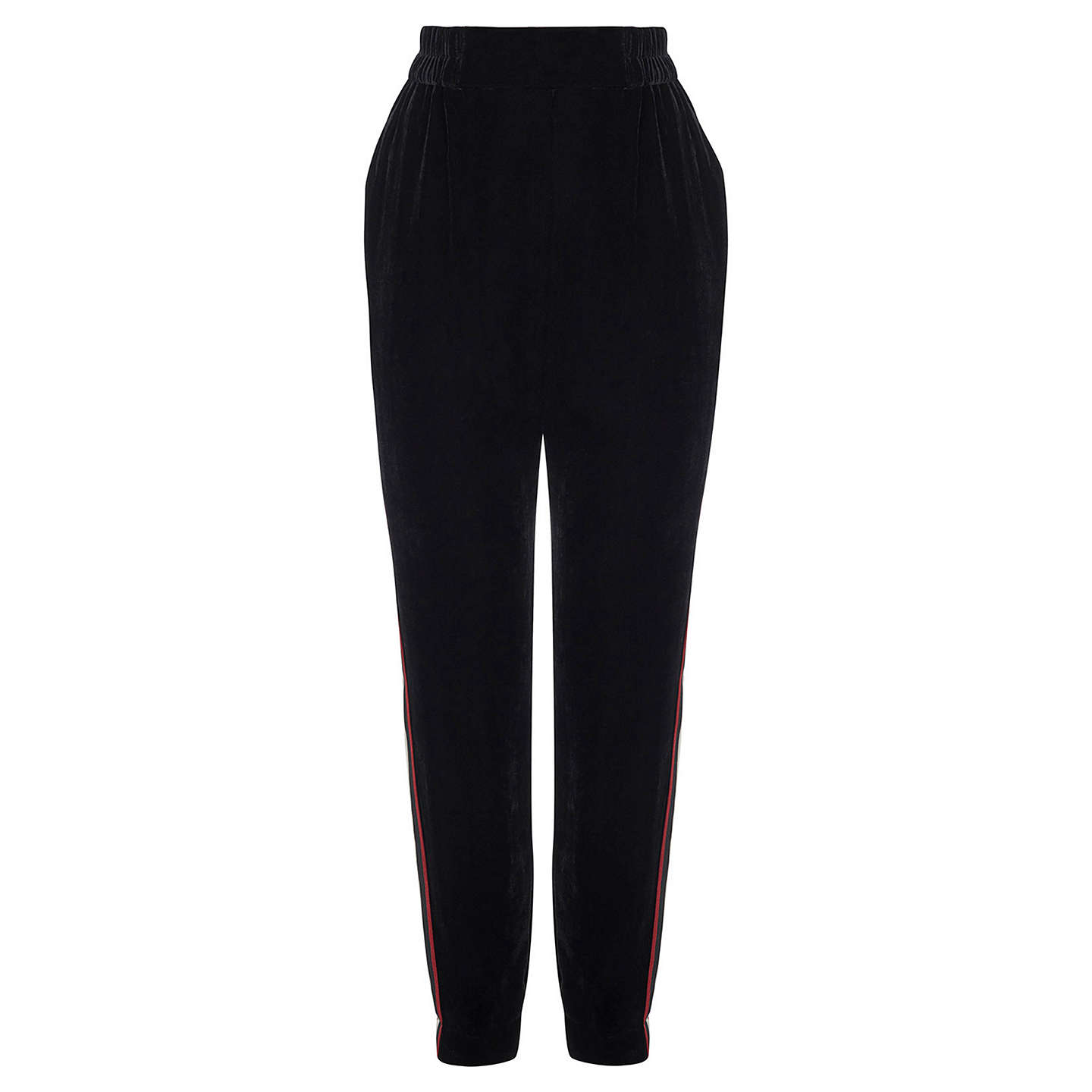 BuyKaren Millen Velvet Sporty Trousers, Black, 6 Online at johnlewis.com