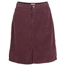 Buy Fat Face Darcy Cord Skirt, Elderberry Online at johnlewis.com