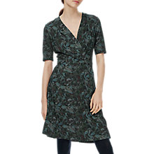 Buy Brora Liberty Print Jersey Wrap Dress, Coal Swirl Online at johnlewis.com
