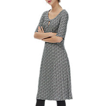 Buy Brora Liberty Print Jersey Dress, Black Marble Online at johnlewis.com