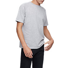 Buy Reiss Trouble Short Sleeve Jersey Sweatshirt, Grey Online at johnlewis.com