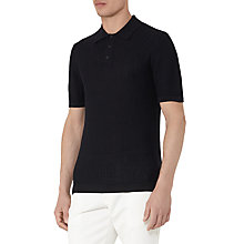 Buy Reiss Ramsey Knit Polo Shirt, Navy Online at johnlewis.com