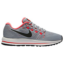 Buy Nike Air Zoom Vomero 12 Women's Running Shoes, Black/Grey/Platinum Online at johnlewis.com