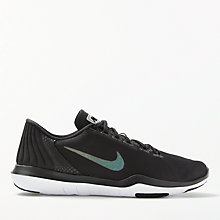 Buy Nike Flex Supreme TR 5 Metallic Women's Training Shoes, Black/Grey Online at johnlewis.com