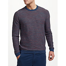 Buy John Lewis Reverse Budding Cotton Stripe Jumper, Blue Online at johnlewis.com