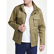 Buy John Lewis Four Pocket Bonded Cotton Jacket, Sand Online at johnlewis.com