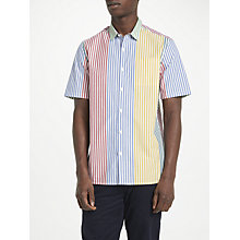 Buy Kin by John Lewis Block Multi Stripe Short Sleeve Shirt, Multi Online at johnlewis.com