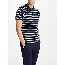 Buy Kin by John Lewis Knitted Stripe Polo Shirt, Navy Online at johnlewis.com