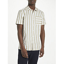 Buy Kin by John Lewis Vertical Stripe Short Sleeve Shirt, Ecru Online at johnlewis.com