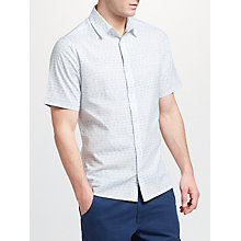 Buy John Lewis Cycle Print Short Sleeve Shirt, White Online at johnlewis.com