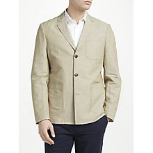 Buy John Lewis Henry Linen Cotton Blazer, Sand Online at johnlewis.com