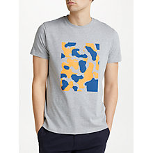 Buy Kin by John Lewis Camo Placement Print T-Shirt, Grey Online at johnlewis.com