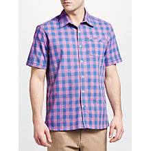 Buy John Lewis Marl Gingham Check Shirt, Blue/Pink Online at johnlewis.com