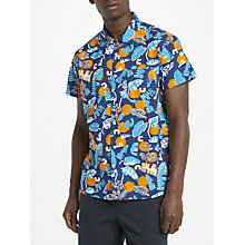 Buy Kin by John Lewis Sarah Fennell Print Short Sleeve Shirt, Blue Online at johnlewis.com