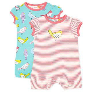 Easter toys soft cuddly chicks bunnies at john lewis john lewis baby bird shortie romper pack of 2 multi negle Image collections