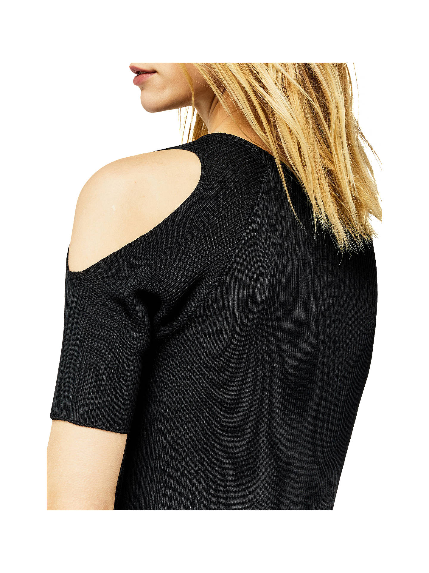 28a438c99ae276 ... Buy Warehouse Ribbed Cold Shoulder Top