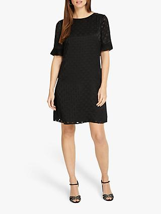 Phase Eight Andrea Spot Tunic Dress, Monochrome