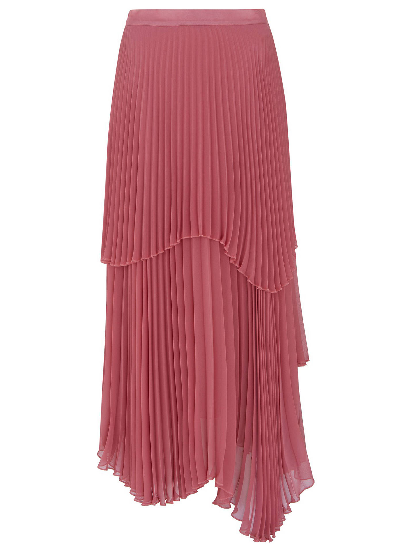 737f0fef8a ... Buy Finery Asymmetric Hem Double Layered Pleated Midi Skirt, Rose, 8  Online at johnlewis ...
