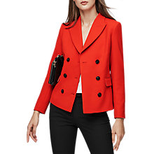 Buy Reiss Izzy Double Breasted Cropped Jacket, Maraschino Online at johnlewis.com